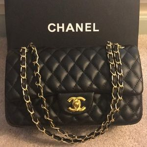 Medium Chanel Double flap bag with Gold Hardware